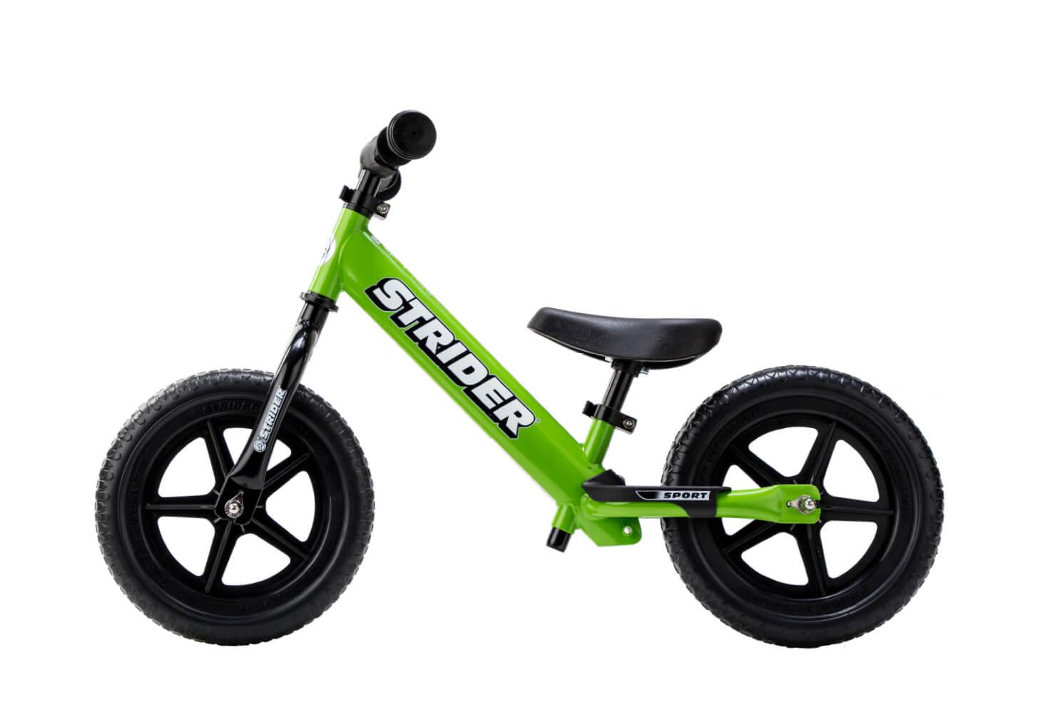 Green Strider 12 Sport Balance Bike+